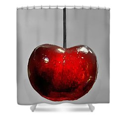 Shower Curtain featuring the photograph Suspended Cherry by Suzanne Stout