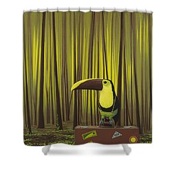 Suspenders Shower Curtain by Jasper Oostland