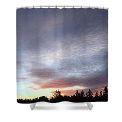 Suspenseful Skies Shower Curtain