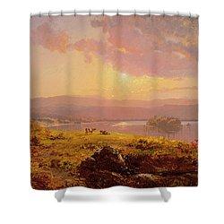 Susquehanna River Shower Curtain by Jasper Francis Cropsey