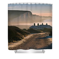 Sussex Coast Guard Cottages Shower Curtain