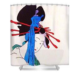 Sutekina Geisha Ni Shower Curtain by Roberto Prusso