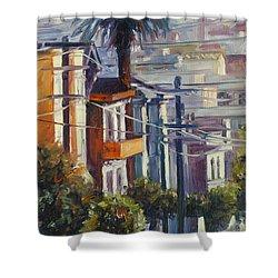 Post Street Shower Curtain