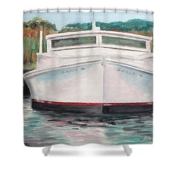 Shower Curtain featuring the painting Suzie Q by Stan Tenney