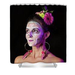 Suz's Sugar Skull Four Shower Curtain