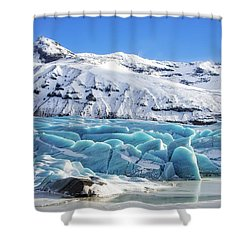 Shower Curtain featuring the photograph Svinafellsjokull Glacier Iceland by Matthias Hauser