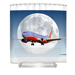 Sw Moon Shower Curtain by Brian Wallace