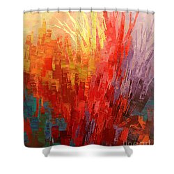 Shower Curtain featuring the painting Swagger Of A Troubador by Tatiana Iliina