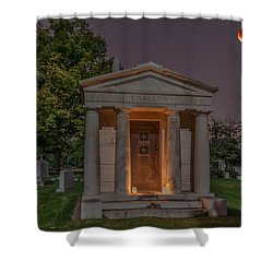 Swallow Mausoleum Under The Blood Moon Shower Curtain