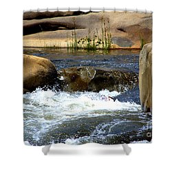 Swallowed Alive Shower Curtain