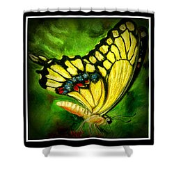 Shower Curtain featuring the pastel Swallowtail by Antonia Citrino