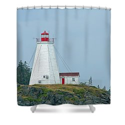 Swallowtail Lighthouse Shower Curtain by Thomas Marchessault