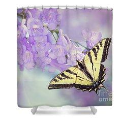 Swallowtail On Purple Flowers Shower Curtain