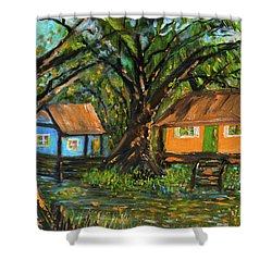 Swamp Cabins Shower Curtain
