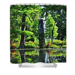 Swamp In Bloom Signed Shower Curtain