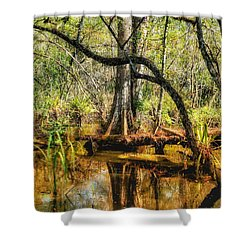 Swamp Life II Shower Curtain