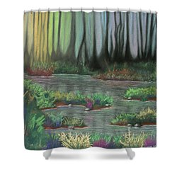Swamp Things 01 Shower Curtain