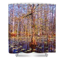 Swamp Tree Shower Curtain by Susanne Van Hulst