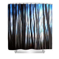 Swampland  Shower Curtain by Terence Morrissey