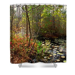 Swamps In Sc Shower Curtain by Susanne Van Hulst