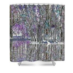 Swampscape Shower Curtain