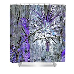 Glowing Air Plant Shower Curtain