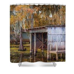 Swampy Dock  Shower Curtain