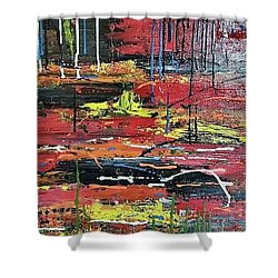 Swampy Hollow Shower Curtain by Judi Goodwin