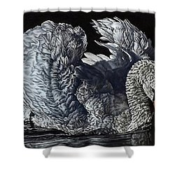 Swan #2 Shower Curtain