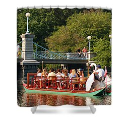 Swan Boats Shower Curtain