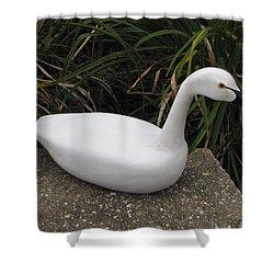 Swan-derful Shower Curtain