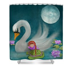 Swan Dreams By Sannel Larson Shower Curtain