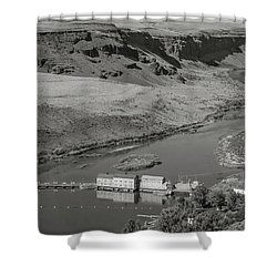 Swan Falls Dam Shower Curtain