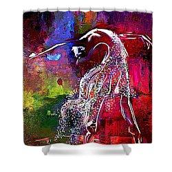Swan Shower Curtain by Lynda Payton