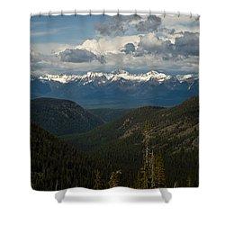 Swan Mountain Range Shower Curtain