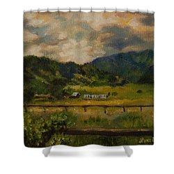 Swan Valley Hillside Shower Curtain