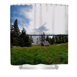 Swans Island Bay Shower Curtain