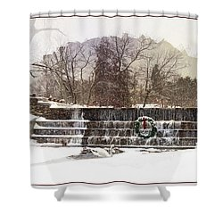 Shower Curtain featuring the photograph Swansea Dam At Christmas by Robin-Lee Vieira