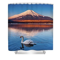Shower Curtain featuring the photograph Swany by Tatsuya Atarashi