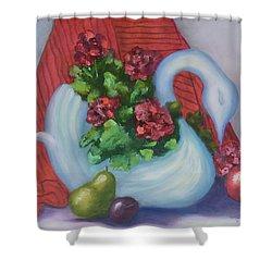 Swanza's Swan Shower Curtain