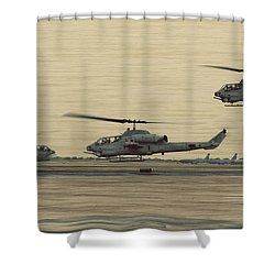 Swarming Cobras Shower Curtain