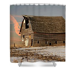 Swayback Barn Shower Curtain by Kathy M Krause