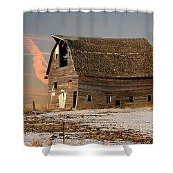 Swayback Barn Shower Curtain