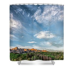 Shower Curtain featuring the photograph Sweeping Clouds by Jon Glaser