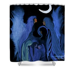 Sweet Angelfamily Shower Curtain by Sherri's Of Palm Springs