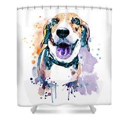 Sweet Beagle Shower Curtain