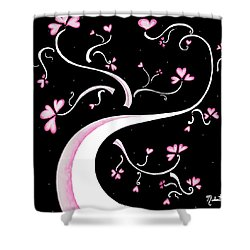Sweet Charity By Madart Shower Curtain by Megan Duncanson