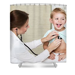 Sweet Child Visiting Doctor Shower Curtain