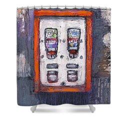 Sweet Childhood Memories,bubblegum Machine Shower Curtain by Martin Stankewitz