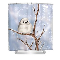 Shower Curtain featuring the painting Sweet Cold by Veronica Minozzi